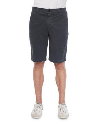 Griffin Flat-Front Shorts, Dark Gray