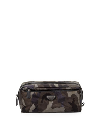 Camouflage Nylon Toiletry Kit, Gray