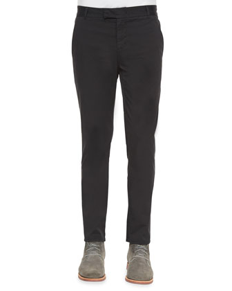 Brooks Slim-Fit Chino Trousers, Black