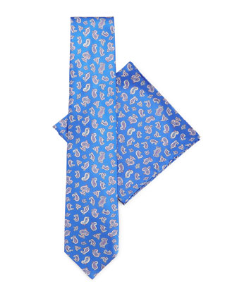 Silk Tie & Pocket Square Set, Blue