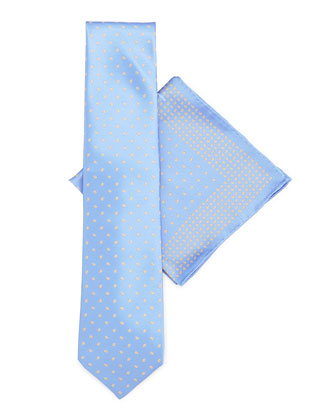 Silk Tie & Pocket Square Set, Light Blue