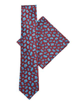 Silk Tie & Pocket Square Set, Red