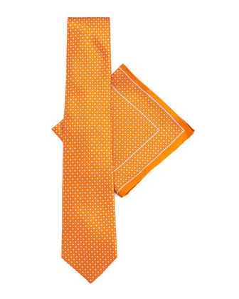 Silk Tie & Pocket Square Set, Orange