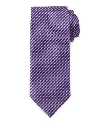 Triangle-Print Neat Tie, Purple