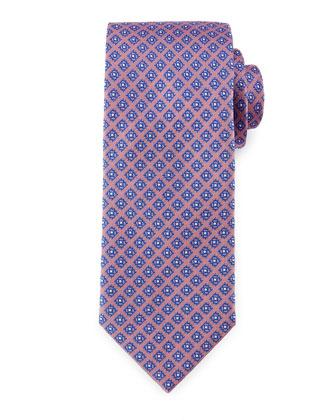 Diamond-Dot Silk Tie, Pink