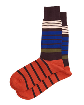 Jack Striped Socks, Brown/Multi
