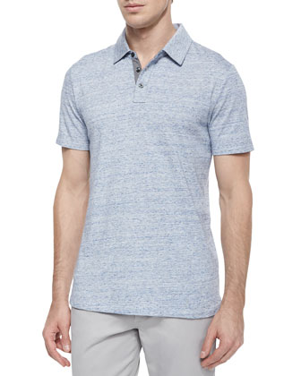 Jaspe Short-Sleeve Jersey Polo Shirt & Five-Pocket Stretch-Twill Pants
