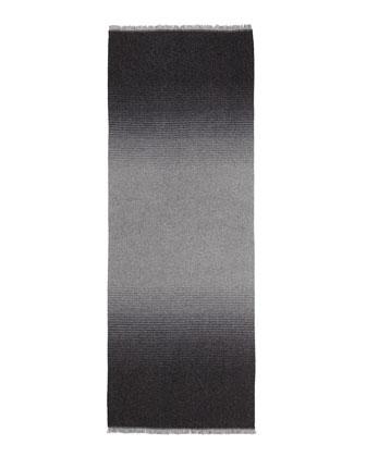 Degrade Wool Scarf, Gray/Black