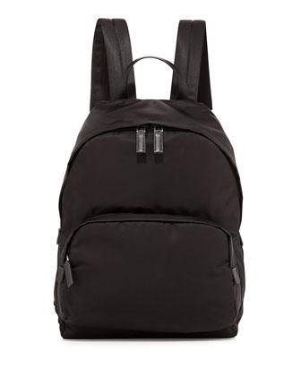 Zaino Men's Clean Nylon Backpack