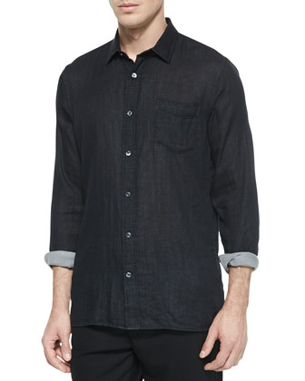 Degrade Wool Scarf, Double-Face Long-Sleeve Woven Shirt & Traveler Wool ...
