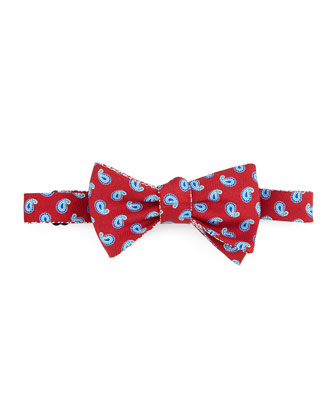 Small Paisley Bow Tie, Red