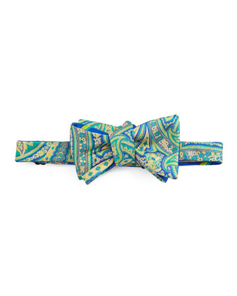 Paisley Bow Tie, Green