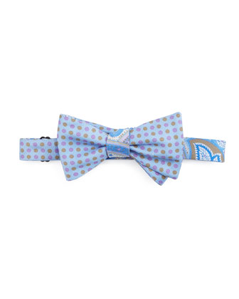 Paisley Bow Tie, Light Blue