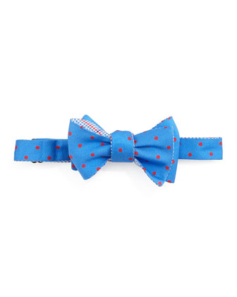 Dot Bow Tie, Blue/Red