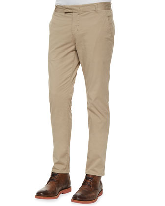 Brooks Twill Slim-Fit Chino Trousers, Tan