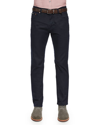 Maine Straight-Leg Denim Jeans, Navy