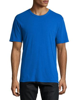 Classic Short-Sleeve Jersey Tee, Blue