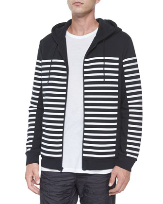 Geo-Print Zip-Up Hooded Jacket, Classic Short-Sleeve Tee & Nylon Quilted ...