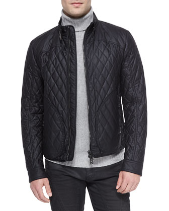 Welbeck Wax Knit Quilted Jacket, Littlehurst Textured Knit Sweater & ...
