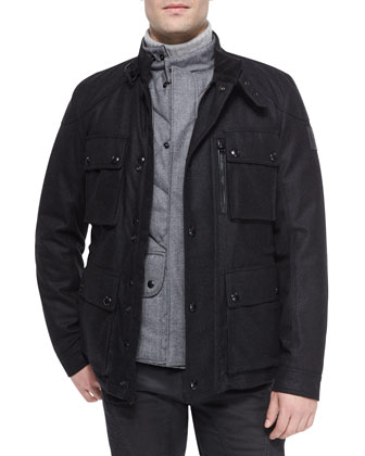 Trialmaster Cashmere-Blend Jacket, Quilted Flannel Vest, Littlehurst ...