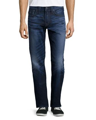 Ricky City Highlight Denim Jeans, Blue