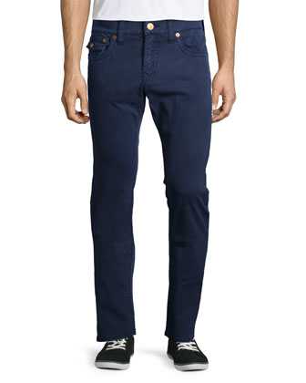 Geno Over-Dye Twill Jeans, Navy