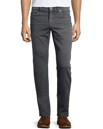 Geno Over-Dye Twill Jeans, Gray