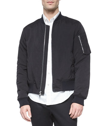 Manston Nylon Bomber Jacket, Black