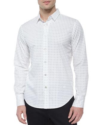 Manston Nylon Bomber Jacket, Dot-Print Long-Sleeve Woven Shirt & Slim-Fit ...