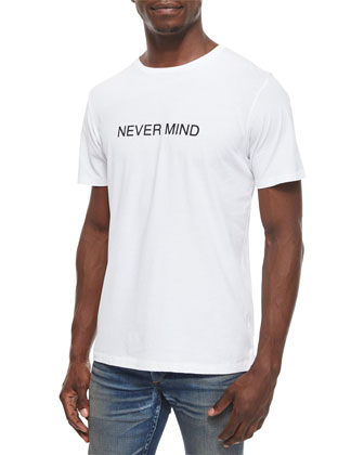 Nevermind Graphic Knit Tee, White