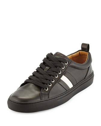 Napa Leather Low-Top Sneaker, Black