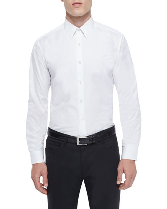 Wellar Windowpane Wool Sport Coat, Sylvain Textured Long-Sleeve Shirt & ...