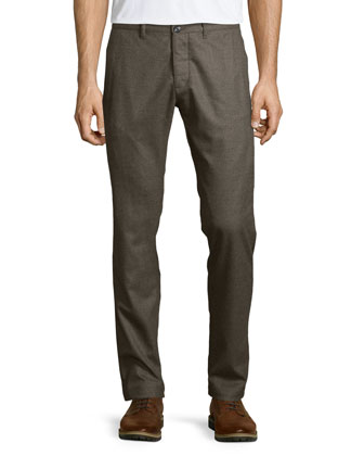 Conall P Melange Wool Trousers, Light Brown