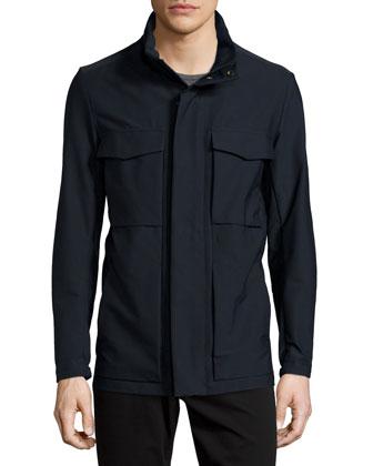 Carick Nylon Field Jacket, Black