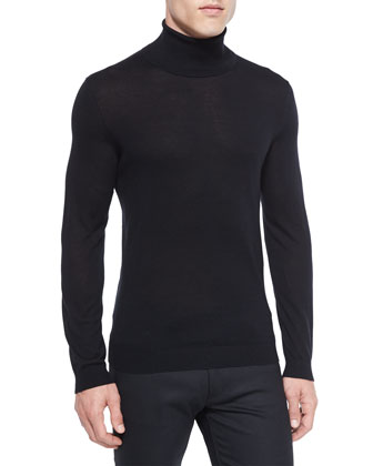 Vilass Turtleneck Sweater, Black