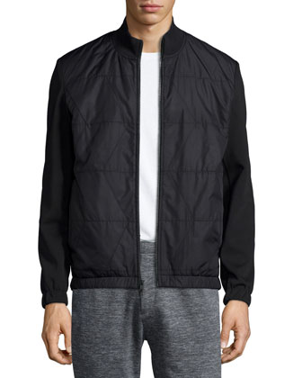 Seymore Mixed-Media Jacket, Black