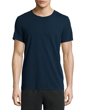 Classic Crewneck Short-Sleeve Tee, Navy