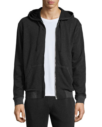 French Terry Zip-Up Hoodie, Classic Short-Sleeve Crewneck Tee & Long Knit ...