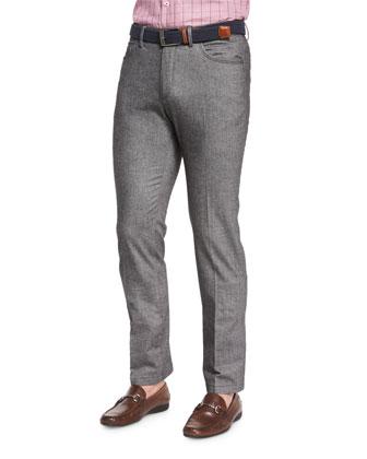 Melange Knit Hybrid Pants, Charcoal