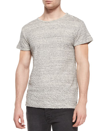 Apache Knit Short-Sleeve Tee, Light Gray