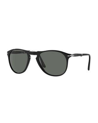 714-Series Foldable Acetate Sunglasses, Black
