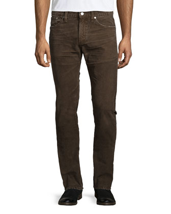 Holden Slim Corduroy Pants, Russet Brown