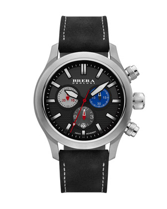 Eterno Chronograph Watch, Stainless Steel/Black