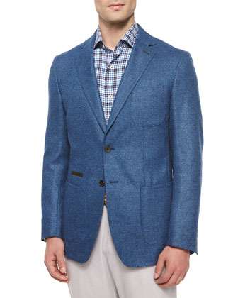 Napoli Soft Two-Button Sport Coat, Navy