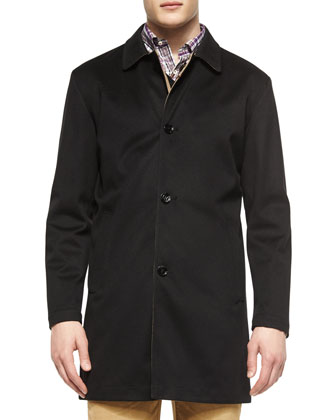 Modena Reversible Trenchcoat, Black