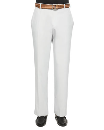 Durham High-Drape Performance Pants, Gray