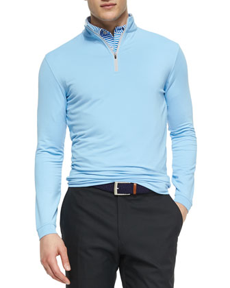 Perth Quarter-Zip Sweater, Blue