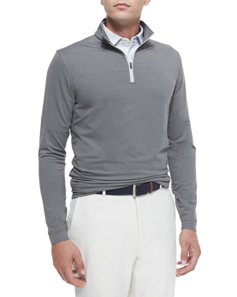 Perth Quarter-Zip Sweater, Gray