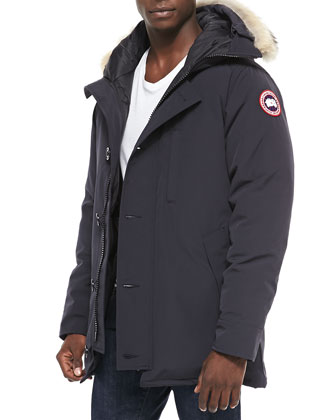 Chateau Parka w/Fur Trimmed Hood, Navy