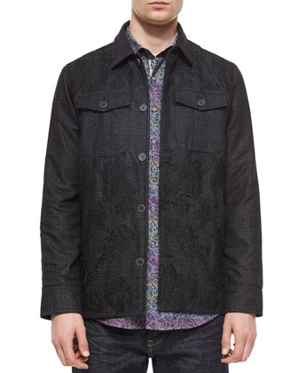 Abney Printed Shirt Jacket & Loch Ness Printed Sport Shirt
